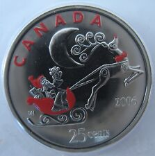 RCM - 2006 - 25-cent - Santa in Sleigh and Reindeer - Original Sealed - One Coin