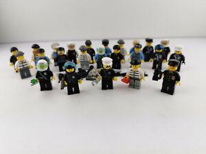 Lego® City 5 Figuren Minifiguren Polizei Dieb mit Kopfbedeckung u. Zubehör