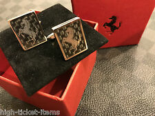 Genuine Ferrari Carbon Fiber Cufflinks Extremely RARE Brand new in box Must Have