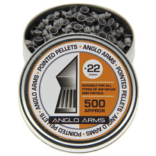 500 x .22 POINTED AIR GUN RIFLE PELLETS SHOOTING HUNTING TARGETS FROM ANGLO ARMS