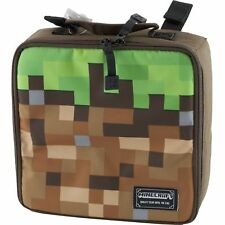 Minecraft School Soft Lunch Box Tote Kit Boys Green Brown Dirt Block
