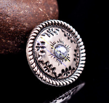 """1 Plate Leather Decorative 1/"""" Silver High Sierra Heart Concho With Screwback"""
