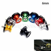 6mm Motorcycle CNC Swingarm Spool Stand Screws Slider for Yamaha YZF R1 2014 13