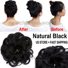 US Synthetic Curl Fluffy Hair Bun Updo Chignon Real Natural Hair Piece Extention