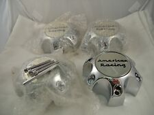 American Racing Wheels Chrome Custom Wheel Center Caps (4) #6193-1216-CAP NEW!