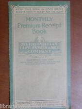 Vecchio libretto assicurazione METROPOLITAN LIFE INSURANCE COMPANY 1934 Boston