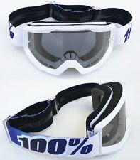 100% Por Cien ESTRATOS MOTOCROSS MOTO Gafas Equinox blanco