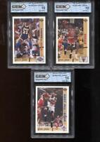 Michael Jordan 1991-92 Upper Deck (1) #44 (1) #34 and (1) #69 GEM MINT 10