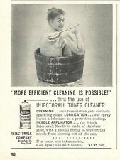 1961 Injectorall Injector/Carb Cleaner Ad/Nude woman in tub