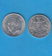 Monaco Louis II 5 francs 1945 en aluminium Magnifique qualité
