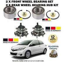 FOR TOYOTA YARIS 2011 > NEW 2 X FRONT +2 X REAR WHEEL BEARING HUB KIT SET