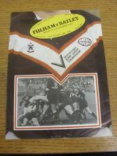 28/12/1980 programma Rugby League: Fulham V Batley [a Craven Cottage] (piegato).