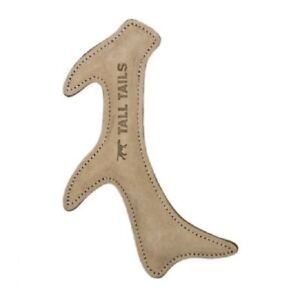 """Tall Tails 11"""" Natural Leather ANTLER Dog Toy"""