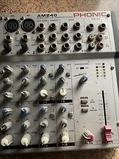 Phonic AM240 microphone and line / stereo audio mixer