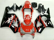 Fit for CBR954 RR 2002 2003 Black Red ABS Injection Mold Bodywork Fairing Kit