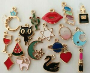 Oil Drop Charms - Random Mix - 1p AUCTION - Crafts - Hobby -Jewellery Making