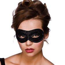 NERO Glitter Maschera occhi donna fantasma dell' Opéra Occhi Maschera Costume