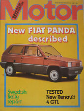 Motor magazine 23/2/1980 featuring Renault road test, Fiat Panda cutaway drawing