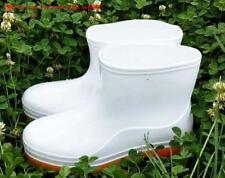 outdoor new Mens slip on Waterproof Rubber casual white non slip Rain Boots