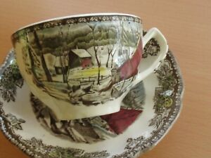 Johnson Brothers The Ice House Cup and Saucer Set of 4  Made in England