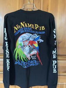 New No Name Pub Key West Big Pine Florida L/S T-shirt Mens Small Bar Restaurant