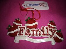 "Christmas Ornament ""Family "" of 5 apples Diy personalization by Polar X"