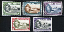 GOLD COAST King George VI 1938-1943 Issue High Values Perf 12 SG 128 to SG 132
