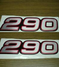 290 Decals (Silver w/ Rd & Blk Outline)