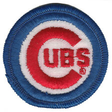"""1980'S CHICAGO CUBS MLB BASEBALL VINTAGE 2"""" ROUND TEAM LOGO PATCH"""