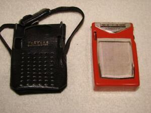 Traveler 6 Transistor Radio # TR-610C- In Box + Case-Not Working-Made In Japan