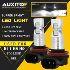 2X AUXITO H8 H11 H9 Fog Light 6000K White Super Bright LED Driving Bulb DRL EA