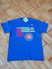100% Authentic Majestic MLB Chicago Cubs World Series T-Shirt Men M  New!