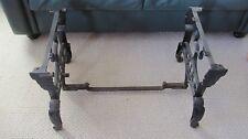 White Sewing Machine Singer Metal Base Legs Table Vintage Repurpose Industrial