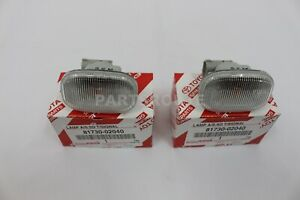 Toyota Supra JZA80 Celica MR2 Clear Side Marker Signal Lights Pair OEM Genuine