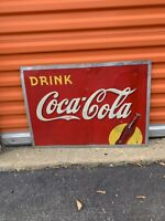 COCA COLA COKE VTG  1930s metal sign DRINK Coke 19.25x17.25 B