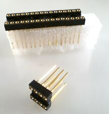 "Turned Pin Wire Wrap IC Socket 8 Way Gold Plated 0.3"" 5 Pieces OLA2-05A"