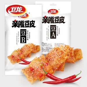 Weilong Chinese Specialty Snack food Latiao 卫龙辣条亲嘴豆皮零食小吃5袋(60克/袋)
