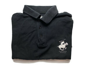 Beverly Hills Polo Club Mens Polo Shirt Size M Regular Fit Black Embroidered