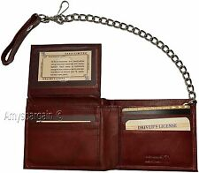 Men's Genuine Leather Bifold Chain wallet, Motorcycle, Trucker, Biker wallet #2