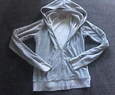Women's juicy couture Velour tracksuit jacket Hoodie Top Grey Diamanté Zip Up 8