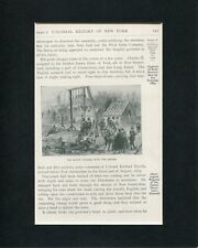 Dutch Trading With Indians Original Engraving Book Photo Display