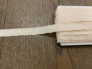 1.7 Metres Vintage Cotton Beige 2cm wide Pretty Lace Trim Non Stretch