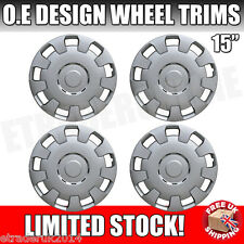 "15"" Vauxhall Astra Corsa Combo Wheel Trims Hubcaps SET OF 4 Trim Silver Car New"