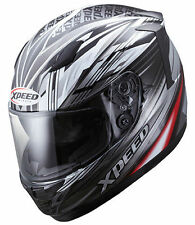 HJC Xpeed Black/Silver XF-710 Thruster Full Face Street Motorcycle Helmet LG