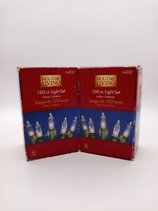 Holiday Living 100 Ct. Lot Of 2 Mini String Christmas Lights Clear Wedding