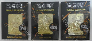 YUGIOH! - 24K GOLD PLATED COLLECTABLE (x3) - LIMITED EDITION - SET 1 FREE UK P&P