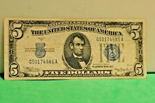 1934  A $5 Silver Certificates Blue Seal