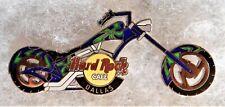 HARD ROCK CAFE DALLAS BLUE & GREEN CHOPPER SERIES MOTORCYCLE PIN # 23405