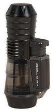 "Vertigo ""Sputnik"" Black Butane Cigar Lighter, Triple Torch Flame"