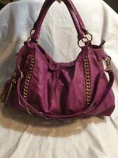 MELIE BIANCO * Soft Vegan LARGE Plum Purple Hobo Shoulder Bag Purse GUC